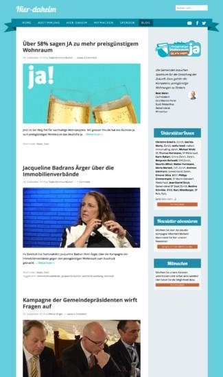 Uebersicht des Blogs mit Artikeln zum Thema