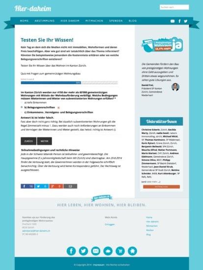 Wissenstest: interaktiver Quiz in 8 Schritten.